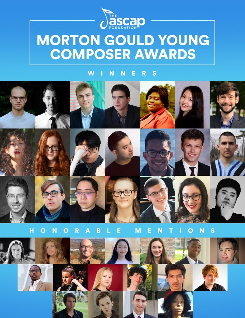 Emily wins prestigious ASCAP Morton Gould Young Composer Award for 2021!